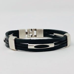 Jewelry - Silver tone leather bracelet designed from Turkey